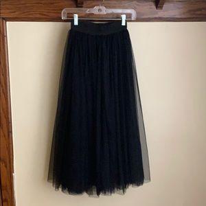 Oasap tulle midi skirt, black, XS